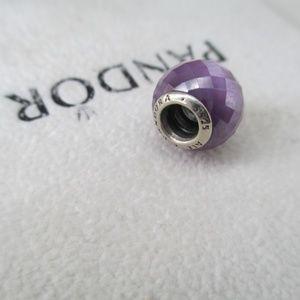 Pandora purple Petite Facets bead s925 ALE